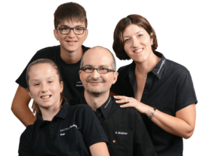 Familie Walther der Zentrum-Garage Düdingen AG