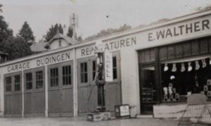 Vue du garage du nouveau bâtiment de 1927