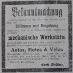 Publicité 1922