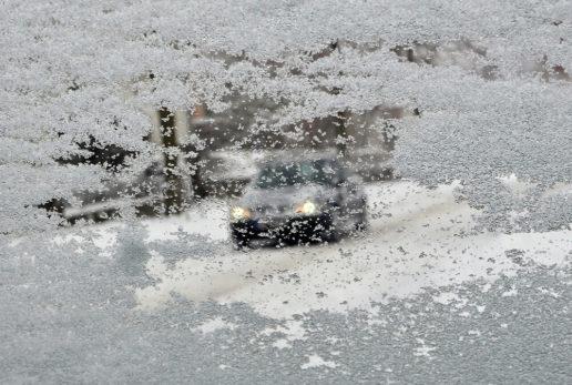 Photo d'une fenêtre glacée.